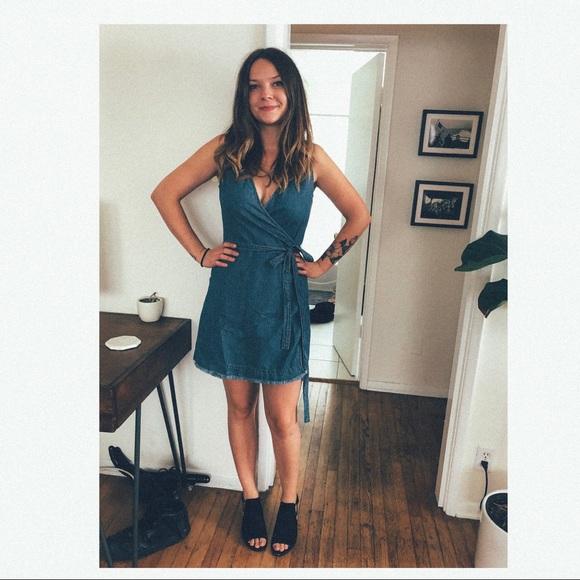 24d5086959 Madewell Dresses   Skirts - Madewell denim wrap dress